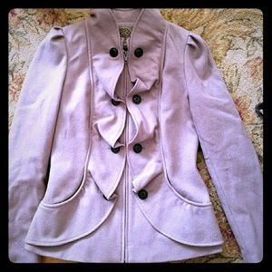 Anthropologie Indra Cream Confection jacket